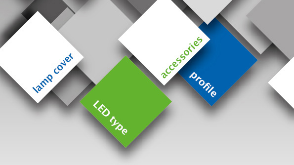 Modular system for configuration of individual LED luminaires